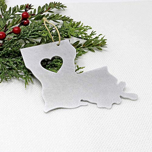 Louisiana Ornament State Gifts Christmas Tree Holiday Party Decorations Home Decor