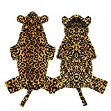 MDKAZ Ropa para Perros de Leopardo Sudadera con Capucha Suave de Invierno para Perros Abrigo de Leopardo para Perros Disfraz de Cachorro Divertido de otoño Ropa para Gatos Chihuahua-XL