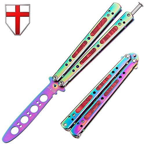 Butterfly Knife Trainer - Balisong Trainer - Practice Butterfly Knife - Butterfly Knife NOT Real Blade NOT Sharp - Butterfly Knives Knifes - Dull Trick CSGO Knife Trainer - Navaja Mariposa K06-C