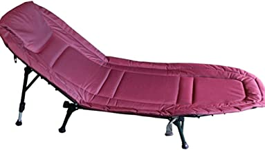 Beds Folding Bed Stylish Lounge Chair Outdoor Outing Folding Bed Single Bed Office Nap Folding Bed Portable Camp Bed Hospital Accompanying Bed Folding Chair (Color : Fuchsia, Size : 180x70x80cm)