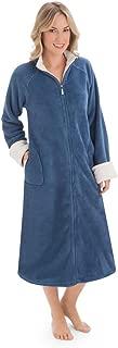 cozy knit plush zip robe