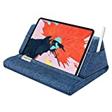 MoKo Soporte de Almohada Compatible con New iPad Air 3rd Gen, iPad Mini 5th Gen, iPad Pro 11, iPad 10.2' 2019, Soporte de Almohadas de Tableta hasta 11' para Samsung Galaxy Tab - Azul de Pierda