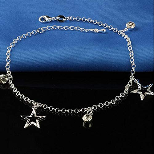 Vvff Small Stars Pendant Foot Anklet Plate Anklets Bracelet Chain For Women Chain On Jewelry