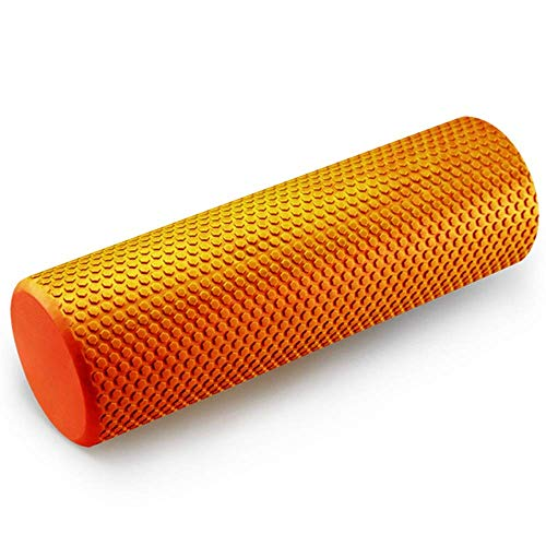 WCY 60CM Fitness Foam Roller Deep Tissue MuskelMassager Schmerz Relier Myofascial Freigabe Gym Zurück Muscle Roller for Yoga ExerciseCore Workout for Haus, ab Rollen Laufrad yqaae (Color : Orange)