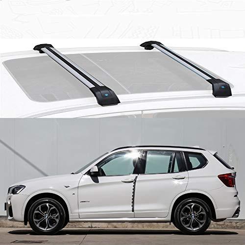 LLDS Bastidor de aleación de Aluminio del Techo del Techo de la Barra Cruzada de Carga Bares Compatible con X3 2011-20 (Size : For BMW X3 2017)