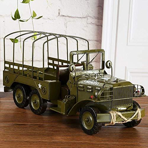 Brightz Modelo del vehículo Militar Hecha a Mano de Hierro Forjado Inicio Decoraciones/Crafts Retro Metal/Ornamentos de Gama Alta/Regalo de cumpleaños Ideas con Estilo y Hermoso