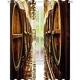YUAZHOQI Tenda per finestra in birreria Tende decorative per soggiorno 132,1 x 274,3 cm