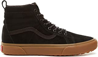 Men's Suede Sk8-Hi MTE Skate Shoe (10 B(M) US Women / 8.5 D(M) US Men, Black/Gum)