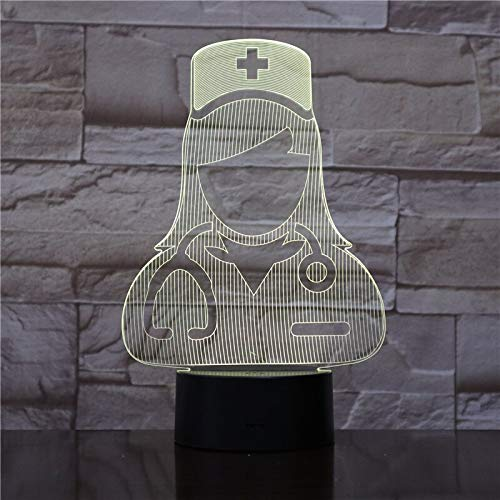 Nur 1 Stück The Doctor and Nurse 3D-Lampe Nachtlicht betrieben LED-Nachtlichtlampe Visueller Lichteffekt Schönes Geschenk für Teenager
