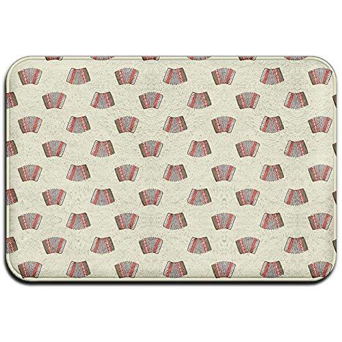 Joe-shop Tapijt Anti-slip Vlek Fade Resistant Deur Mat Accordeon Patroon Outdoor Indoor Mat Room Tapijt