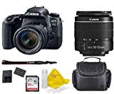 Canon EOS 77D DSLR Camera with EF-S 18-55mm f/3.5-5.6 III Lens + 32GB Memory Bundle +TopKnotch Deals Cloth (International Model)