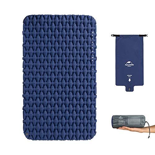 iBasingo TPU Camping Zelt Matte mit Kissen und aufblasbarer Tasche Picknick im Freien doppeltem Schlafsack Ultraleicht Feuchtigkeitsfest Kissen Luftmatratze NH19Z055-P