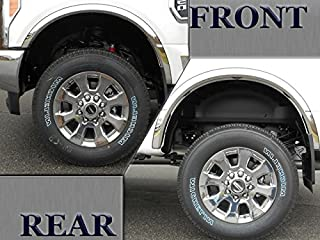 QAA fits 2017-2020 Ford F-250 & F-350 Super Duty (4 Piece Molded Stainless Steel Wheel Well Fender Trim Molding, 2.1