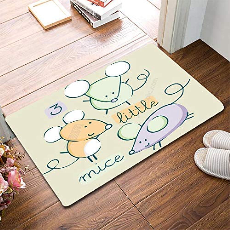 Royare Home Decorations mat Entry Door Door Foot Cartoon Cute Rabbit Anti-Slip mat Bathroom Floor Bedroom Living Room (color   Grey, Size   40  60cm) (color   Grey, Size   40  60cm)