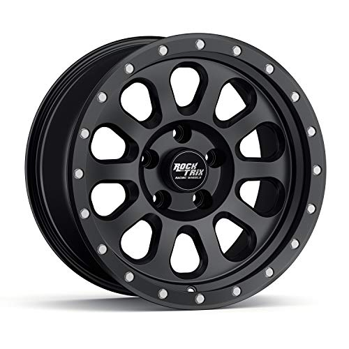 RockTrix RT111 17 inch Wheel Compatible with Jeep Wrangler JK JL 5x5 Bolt Pattern 17x9 (-12mm...