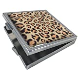 Leopard Print Condom Carrying Case for Pocket, Purse,or Travel - Discreetly Holds and Protects Two Condoms