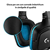 Zoom IMG-1 logitech g432 cuffie gaming cablate