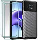 ivoler Case with Tempered Glass for Xiaomi Redmi Note 9T 5G