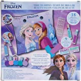 Disney Frozen - Townley Girl Non-Toxic Nail Decoration Mega Makeup Set for Girls with Manicure Pillow, Ages 3+ includes Nail Polish, Nail Gem, Nail File and more! for Parties, Sleepovers and Makeovers