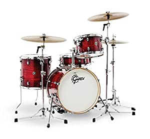Gretsch Drums CT1-J484-GCB Catalina Club 4 Piece Drum Shell Pack, Gloss Crimson Burst