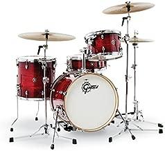 Gretsch Drums CT1-J484-GCB Catalina Club 4 Piece Drum Shell Pack, Gloss Crimson Burst