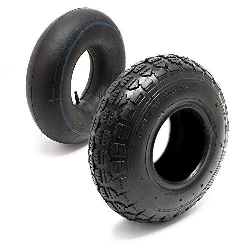 Reifen für den Aufsitzmäher 11x4.00-4 4pr mit Schlauch und geradem Ventil Komplettrad Rasentraktor