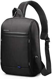 Sling Laptop Bag,Slim Anti Theft Single Shoulder 13-Inch Laptop Bag Waterproof Coss-Body Sling Bag with USB Charging Port