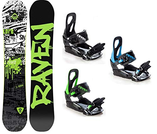 Raven Snowboard Set: Snowboard Core Limited 2019 + Bindung s200 (166cm Wide + s200 Black M/L)