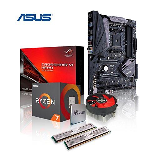 Memory PC Aufrüst-Kit Ryzen 7 2700X 8X 3.7 GHz, 16 GB 3000 MHz DDR4, ASUS ROG Crosshair VII Hero mit WiFi