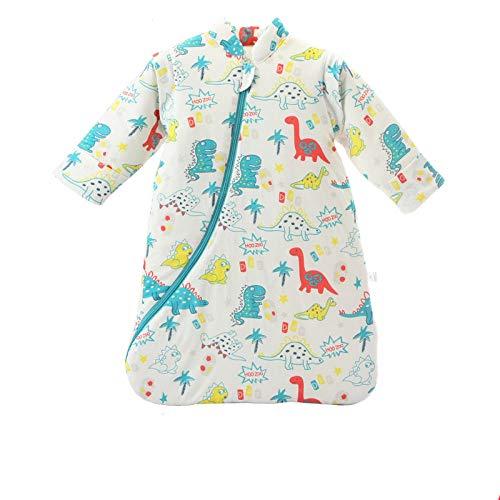 Dtcat Schlafsack mit Füßen,Babyschlafsack,Baby-Trittschutzdecke aus Baumwolle für Herbst und Winter,einteiliger Schlafanzug für Neugeborene @ D_M,Unisex,Babyschlafsack-Sicherheitsverschluss