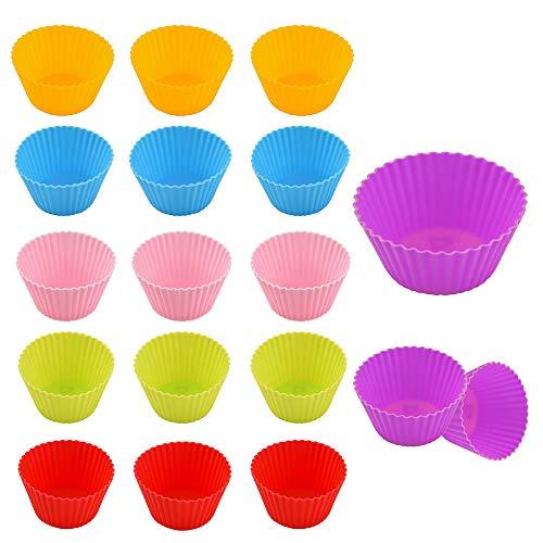 Unique'store Cupcake-Formen, 24 Stück Wiederverwendbare Silikon Backformen Muffin-Formen,Silikon-Muffinförmchen für Muffins und Cupcakes