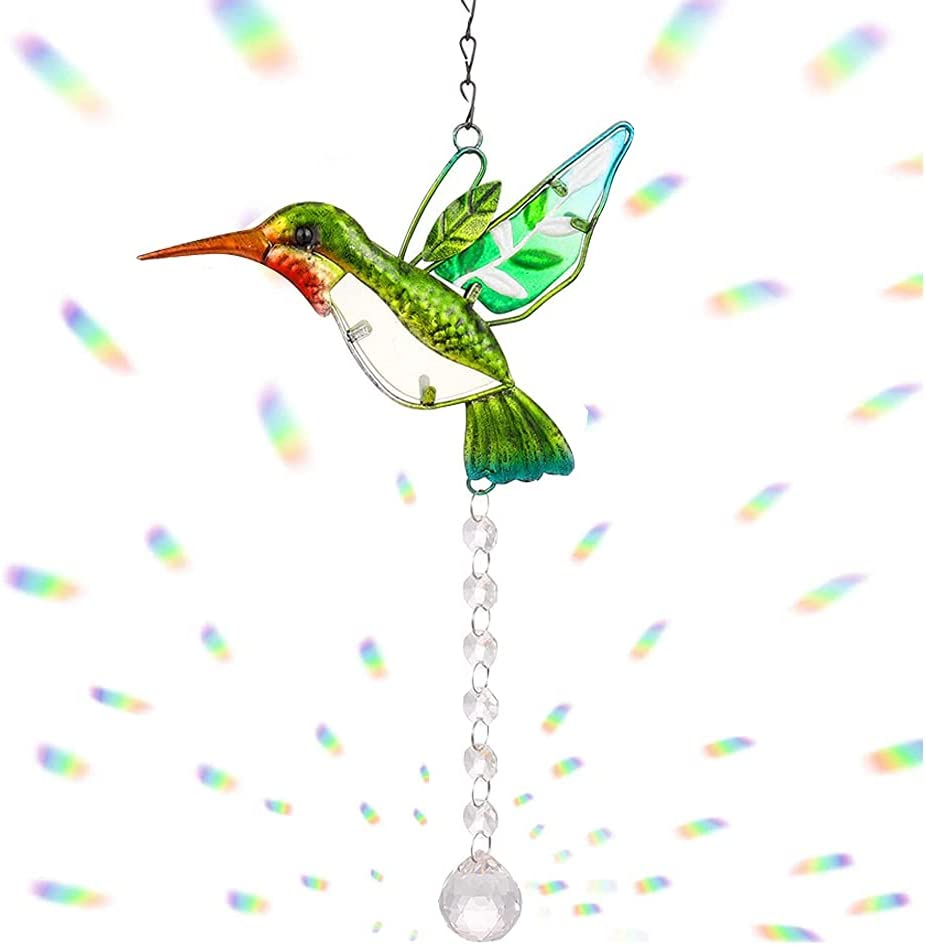 Stained Glass New product Window Hangings Crystal Suncatcher Han price Hummingbird