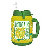 64 oz LEMONADE Insulated Mug - Travel Mug with Large Carry Handle and Straw