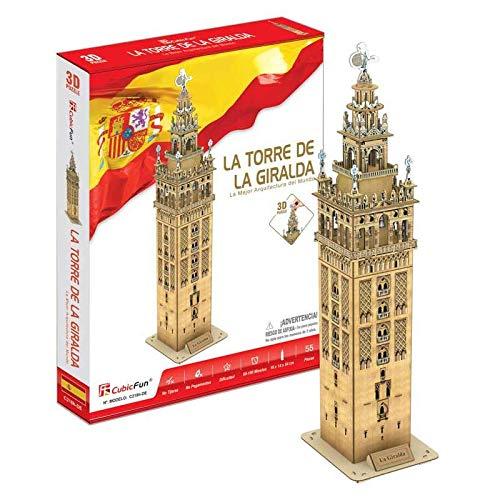 CubicFun Puzzle 3D La Torre de la Giralda, 55 Piezas (CPA Toy Group Trading S.L. C0218)