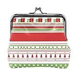 Monedero de Cambio Mujeres y Niñas Bolso del Cambio Monedero pequeño Christmas Stripes