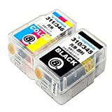 【Angelshop】BC-345/346 顔料ブラック1本+カラー1本 合計2本セット キヤノン用 互換詰め替えインク 取扱い説明書付き【安心の1年保証】