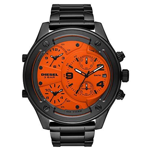 Diesel Boltdown - Reloj cronógrafo de Cuarzo con Correa de Acero Inoxidable en Tono Gris para Hombre, Bronce, 26 DZ7432