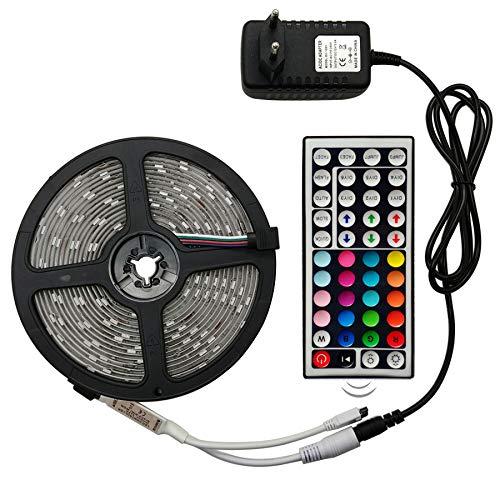 LED Strip Light RGB 5050 SMD 2835 Flexibele Ribbon fita led light strip RGB 5M 10M 15M Tape Diode DC 12V + Afstandsbediening + Adapter,Rgb 2835,5M Full Set