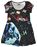 Mighty Fine Womens Star Wars Starfighters Sublimated Skater Dress Small