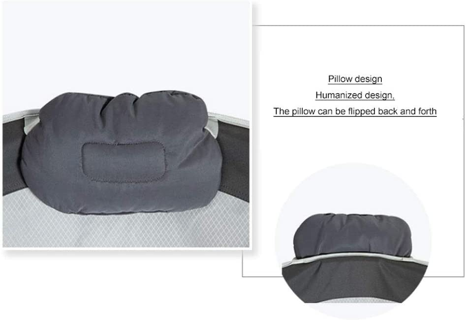 Chaise Longues Portable Saucer pliant rembourré Lune Chaise Confort Salon Chambre Meubles de jardin Camping (Color : Red) Dark Blue