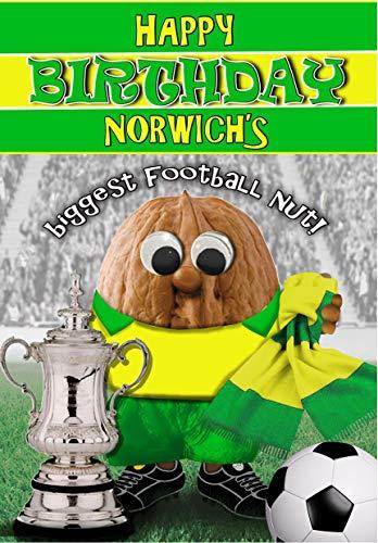 Birthday Card – Norwich City - Football Sports Nut
