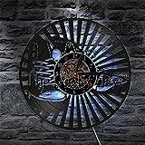 TIANZly 1 Pieza de diseño Vintage, Reloj de Pared Iluminado, Zapatos, Zapatillas de diseño, Reloj de Pared Decorativo, decoración Interior de Sala de Estar Fresca
