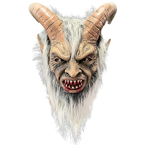 XGS Lucifer Latex Mask Devil Krampus Cosplay Accessroy Halloween Party Costume Horror Props