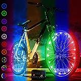 Activ Life - Stylische LED-Fahrradradleuchten mit Batterien inklusive! 100% mehr Helligkeit und Sichtbarkeit von Allen Winkeln (2 Reifenpaket) (Color Changing, 2 Räder)