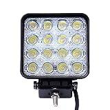LARS360 Focos de Trabajo 2x 48W Foco LED Offroad Foco Reflector Foco de Trabajo 1755LM Negro Aluminio Fundido IP67