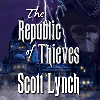 The Republic of Thieves     Gentleman Bastard Series, Book 3              By:                                                                                                                                 Scott Lynch                               Narrated by:                                                                                                                                 Michael Page                      Length: 23 hrs and 43 mins     7,675 ratings     Overall 4.6