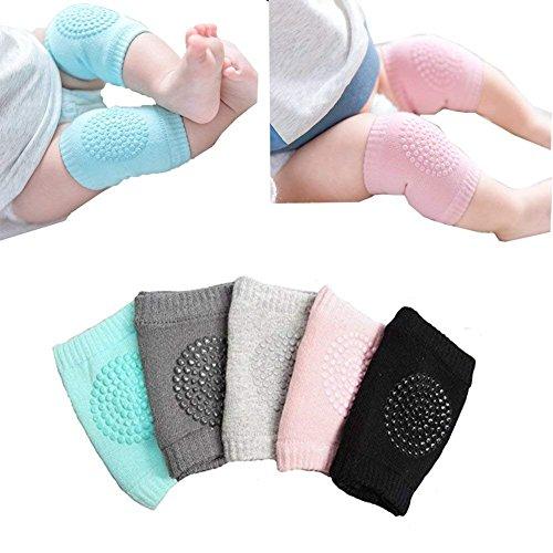 Säugling Kleinkind Baby verstellbare elastische Knie Ellenbogen Beinauflage Bein Wärmer kriechende Baby Socken Knie Sicherheit Schutz Unisex -5 Paar