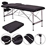 Safeplus Folding Massage Table 73' Massage Bed Professional Spa Bed Carry Case Portable Facial Salon Tattoo Bed