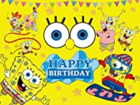 スポンジボブ背景、パトリックスター、写真、誕生日、パーティー、装飾、背景、子供、写真ブーススタジオ小道具。