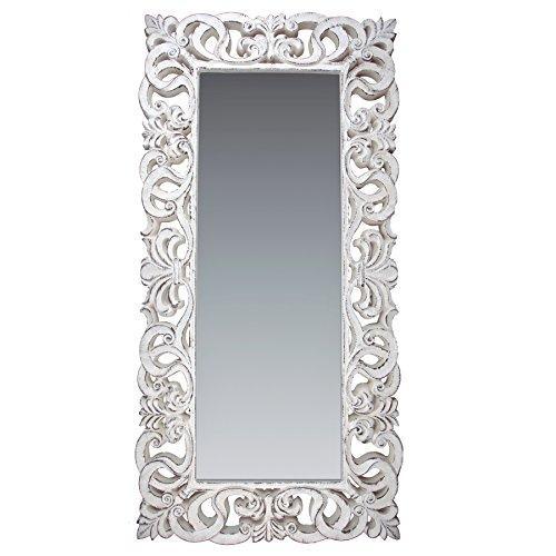 La Fabrica del Cuadro Espejo Decorativo de Pared, Barroco, Modelo Goya - Medida Exterior 88x178 cm, Medida de Espejo 48x138 cm … (Piedra-Tabaco)